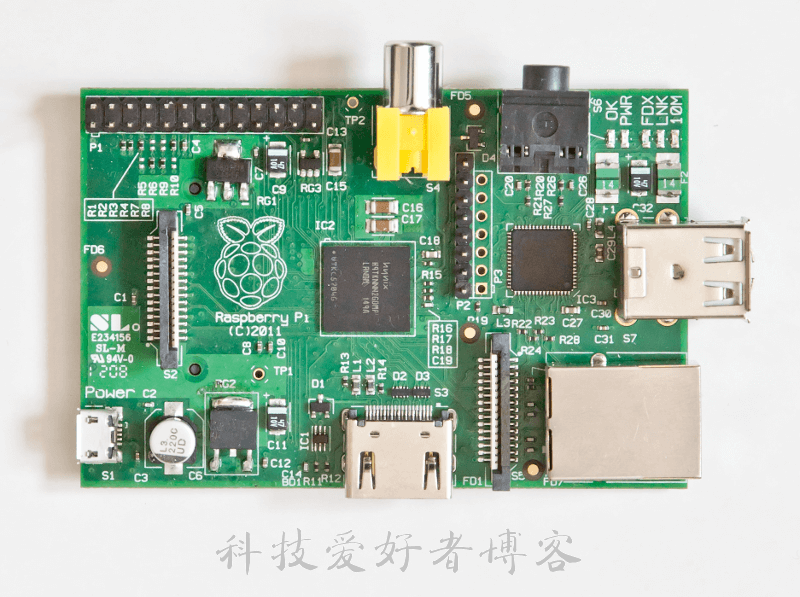 Raspberry Pi Rev 1模型B